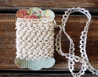 """Vintage white lace, 1/2"""" wide , 4 yards"""