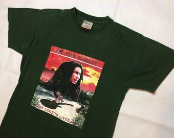 Bob marley t shirt mens small 80s 90s vintage