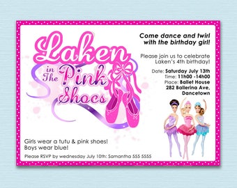 BARBIE in the Pink Shoes Party Invite