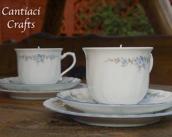 Regina teacup candle trio - sweet pea scent