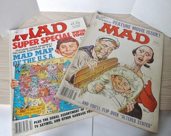2- 1981 MAD COMIC BOOKS
