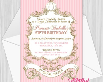 Printable Princess Party Invitation | Personalized