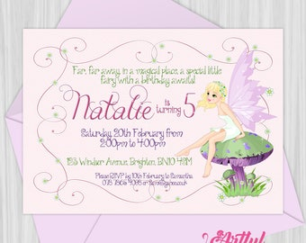 Printable Fairy Party Invitation | Personalized