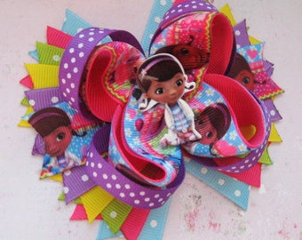 Doc McStuffins birthday Gift for girls Jewelry accessories Hair bows Toddler headband Baby hair clip Doc McStuffins party favors for kids
