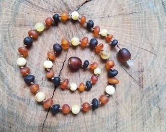 12.25in Raw Mixed Baltic Amber Teething Necklace