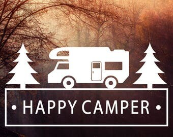 Camping Vinyl Sticker, Camping Sticker, Car Decal, Camping Wall Decal, Laptop Sticker, Camping Decal, Wilderness Sticker, Adventure Sticker