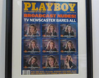 Vintage Playboy Magazine Cover Matted Framed : July 1989 -  Shelly Jamison