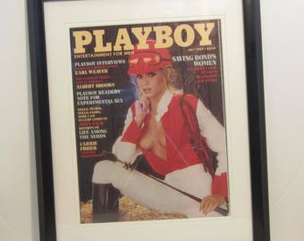 Vintage Playboy Magazine Cover Matted Framed : July 1983 - Ruth Guerri