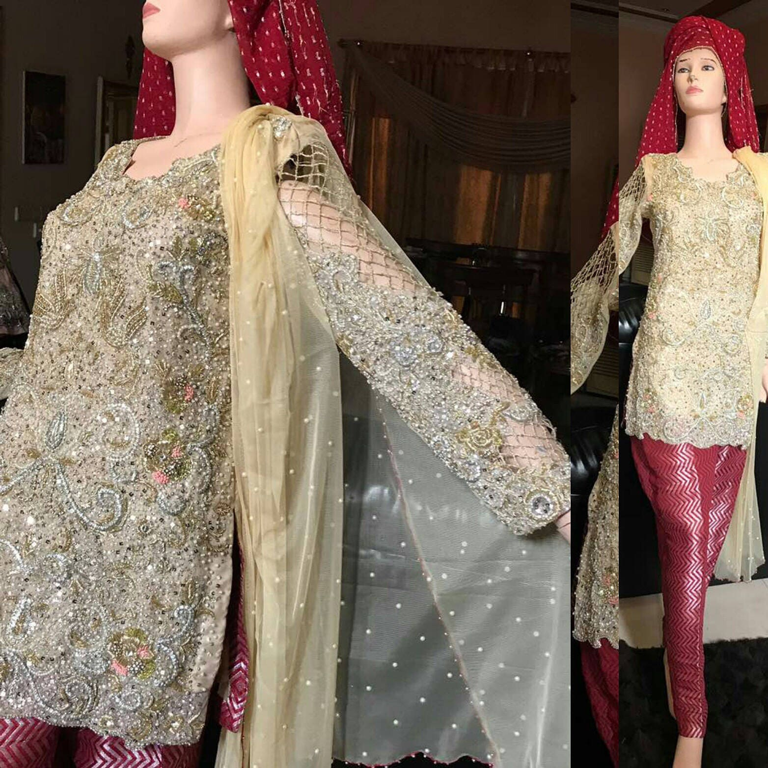Pakistani Formal Wear Pearl Pink Elan Inspired