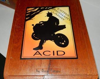 Acid Wooden Cigar Box