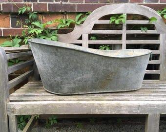 vintage zinc tub