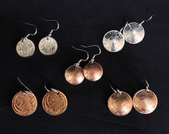 Australian coin earring