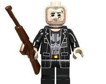 The PUNISHER Netflix version Custom Minifigure 100% Lego Compatible! Marvel Comics Character Marvel Knights