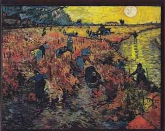 Vincent van Gogh, The Red Vineyard at Arles, c.1888.FREE SHIPPING.