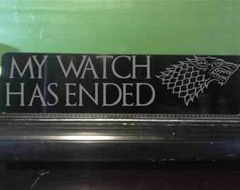 Watch has ended sign