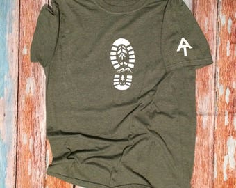 AT shirt custom t shirt Appalachian trail shirt hiking shirt hiking boot custom t shirts hiking shirt  trail blaze Appalachian trail