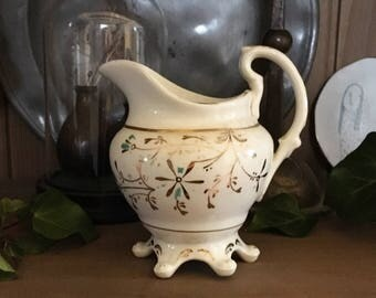 Victorian Milk Jug, Antique White China Jug, Antique Teaware, Vintage Tea Party