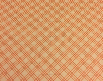 Orange Grid Folder for Traveler's Notebooks