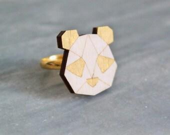 Panda head ring