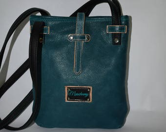 Teal Crossbody Leather Purse