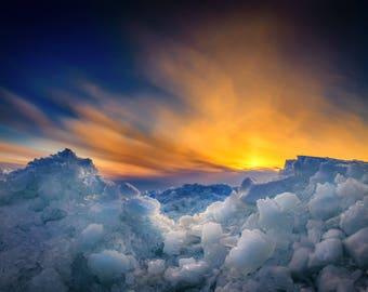 Ice Shoves Over Lake Winnebago Print