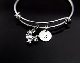 Pet Gift Chicken Bangle Chicken Bracelet Hen Charm Chicken Lover Gift Chicken Lover Jewelry Animal Charm Pet Charm Personalized Bracelet