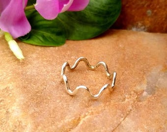 On Sale 925 Sterling Silver - Spline Ring - Simple Silver Ring - Silver Jewelry - Gift For Her