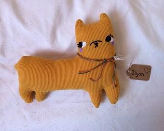 Dijon the Alpaca ~ Mustard Yellow SUPER SOFT Stuffed Art Doll