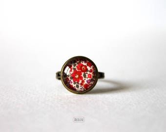 Liberty Vintage Retro 12mm Cabochon ring