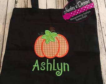 Halloween tote bag! Trick or treat bag! Personalized!