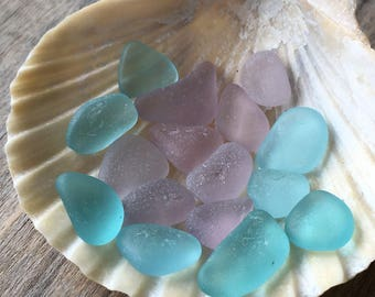 Turquoise & Purple Sea Glass