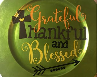 Grateful , Thankful , and Blessed