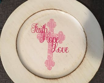 FaithHope Love Charger Plate
