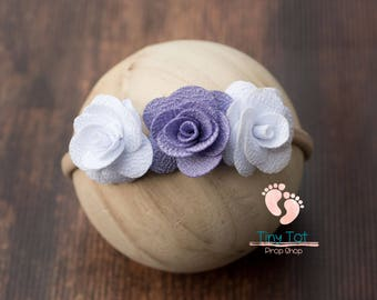 Flower Newborn Headband,Baby Headband,Baby Girl Headband,Infant Headband,Headband,Photo Prop,Flower Headband,Newborn Photo Prop