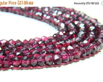 "65% OFF SALE 13"" Full Strand Natural Garnet Rondelle , Approx 4mm Rondelles, Garnet Beads Drilled Gemstone Faceted Rondelle Beads Cut Stone"