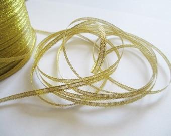 5 m organza Ribbon Gold 3mm