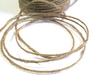 5 m Brown 2mm hemp cord