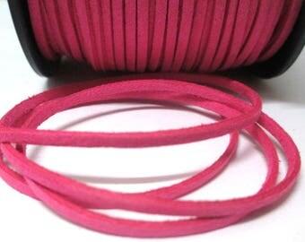 5 m fuchsia suede 3 mm suede cord