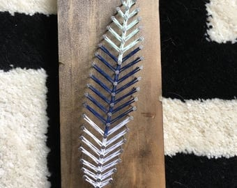 Feather String Art Sign, READY TO SHIP and Free Shipping