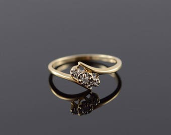 10k Genuine Diamond Cluster Ring Gold