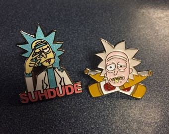 Rick and Morty Hat Pins set (2)