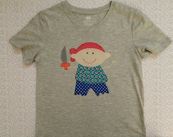 T-shirt with pirate boy