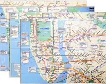 Real NYC Map Placemats (Set of 4)