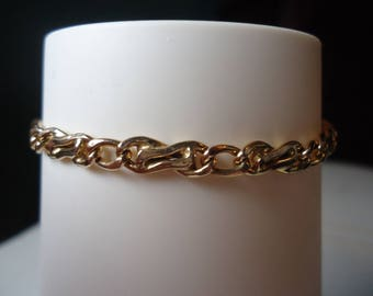 Vintage 14K Yellow Gold Handmade Italian Fancy Link Chain Bracelet 7.5 inches