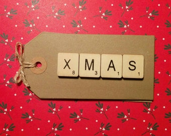 Xmas scrabble gift tag (2 in a pack)