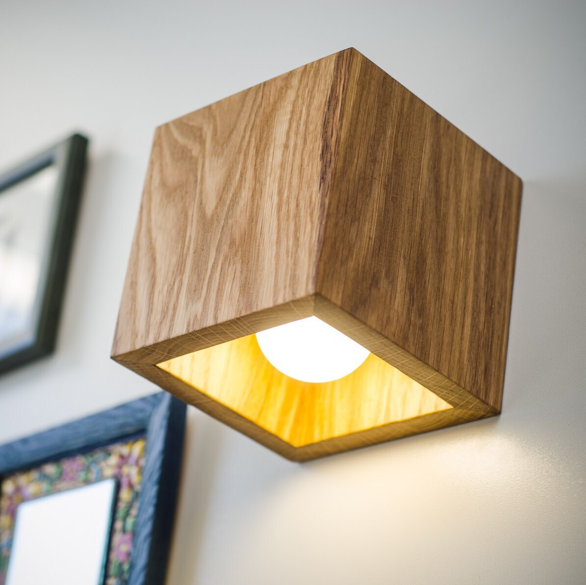 wall lamp wooden Q#163 handmade. wall light. sconce. wood lamp. wooden  lamp. minimalist light. natural. dark brown bog oak wall lamp.