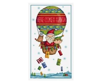 Here Comes Santa - Durene J Cross Stitch Pattern - DJXS2251