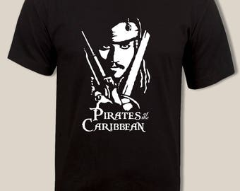 Pirates of the Caribbean t shirt, Jack sparrow t, For Men