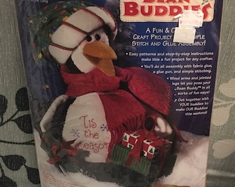 Dimensions Bean Buddies 62172 Tuxedo Ted Penguin  Tis The Season Easy Pattern Stitch And Glue Family Kids Craft