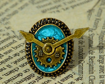 """The time of the sin"" adjustable Steampunk ring: the greed"